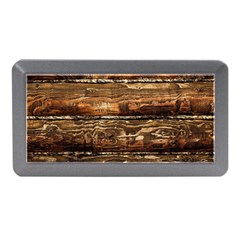 DARK STAINED WOOD WALL Memory Card Reader (Mini)