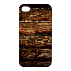DARK STAINED WOOD WALL Apple iPhone 4/4S Hardshell Case