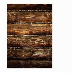 DARK STAINED WOOD WALL Large Garden Flag (Two Sides)