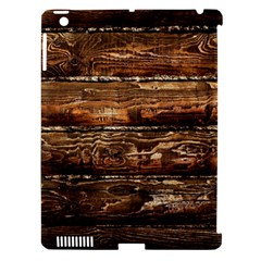 DARK STAINED WOOD WALL Apple iPad 3/4 Hardshell Case (Compatible with Smart Cover)