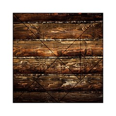 Dark Stained Wood Wall Acrylic Tangram Puzzle (6  X 6 )