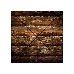 Dark Stained Wood Wall Acrylic Tangram Puzzle (4  X 4 )