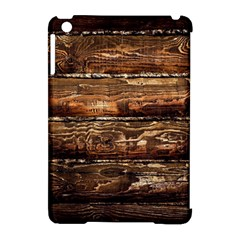 DARK STAINED WOOD WALL Apple iPad Mini Hardshell Case (Compatible with Smart Cover)