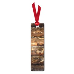 DARK STAINED WOOD WALL Small Book Marks