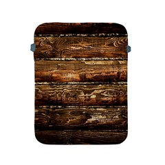 DARK STAINED WOOD WALL Apple iPad 2/3/4 Protective Soft Cases