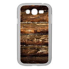DARK STAINED WOOD WALL Samsung Galaxy Grand DUOS I9082 Case (White)