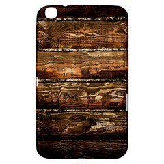 DARK STAINED WOOD WALL Samsung Galaxy Tab 3 (8 ) T3100 Hardshell Case