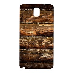 DARK STAINED WOOD WALL Samsung Galaxy Note 3 N9005 Hardshell Back Case