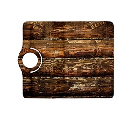 Dark Stained Wood Wall Kindle Fire Hdx 8 9  Flip 360 Case
