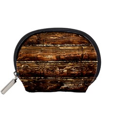 DARK STAINED WOOD WALL Accessory Pouches (Small)
