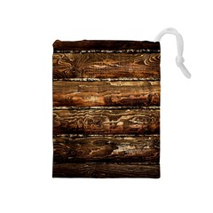 Dark Stained Wood Wall Drawstring Pouches (medium)