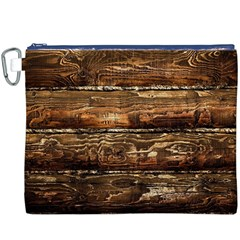 DARK STAINED WOOD WALL Canvas Cosmetic Bag (XXXL)