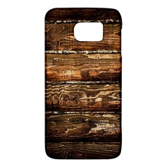Dark Stained Wood Wall Galaxy S6