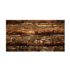 DARK STAINED WOOD WALL Satin Wrap