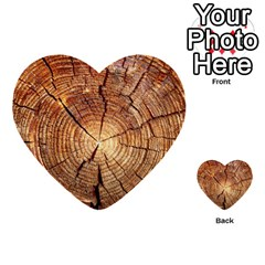 CROSS SECTION OF AN OLD TREE Multi-purpose Cards (Heart)