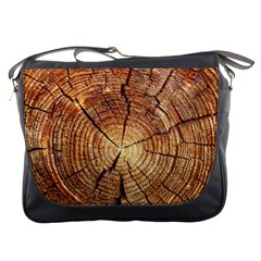CROSS SECTION OF AN OLD TREE Messenger Bags