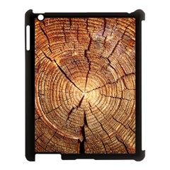 CROSS SECTION OF AN OLD TREE Apple iPad 3/4 Case (Black)
