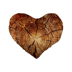 CROSS SECTION OF AN OLD TREE Standard 16  Premium Heart Shape Cushions