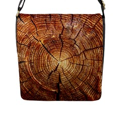 CROSS SECTION OF AN OLD TREE Flap Messenger Bag (L)