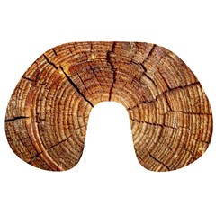 CROSS SECTION OF AN OLD TREE Travel Neck Pillows