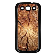 CROSS SECTION OF AN OLD TREE Samsung Galaxy S3 Back Case (Black)