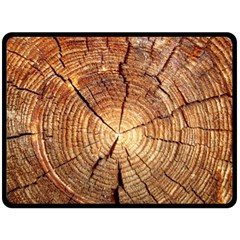 Cross Section Of An Old Tree Double Sided Fleece Blanket (large)