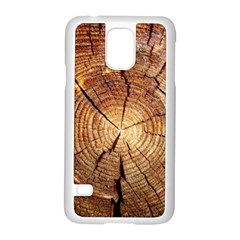 CROSS SECTION OF AN OLD TREE Samsung Galaxy S5 Case (White)