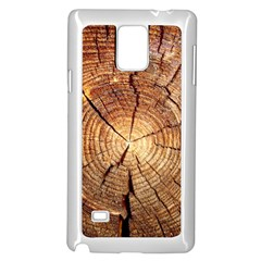 CROSS SECTION OF AN OLD TREE Samsung Galaxy Note 4 Case (White)