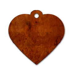 BURL OAK Dog Tag Heart (One Side)