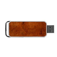 Burl Oak Portable Usb Flash (one Side)