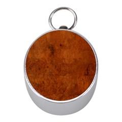 Burl Oak Mini Silver Compasses