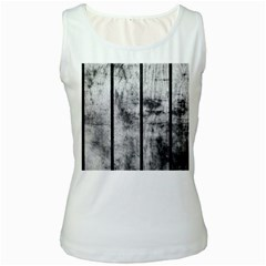 BLACK AND WHITE FENCE Women s Tank Tops