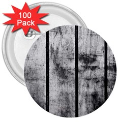 BLACK AND WHITE FENCE 3  Buttons (100 pack)