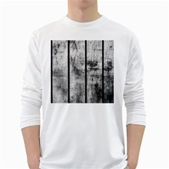 BLACK AND WHITE FENCE White Long Sleeve T-Shirts