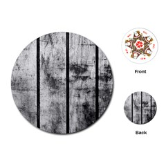Black And White Fence Playing Cards (round)