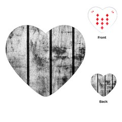 Black And White Fence Playing Cards (heart)