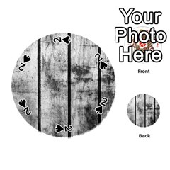 BLACK AND WHITE FENCE Playing Cards 54 (Round)