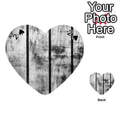 BLACK AND WHITE FENCE Playing Cards 54 (Heart)