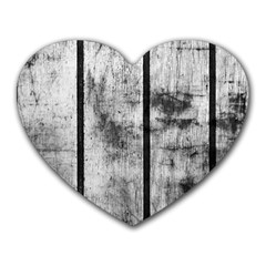 BLACK AND WHITE FENCE Heart Mousepads
