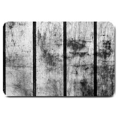 BLACK AND WHITE FENCE Large Doormat
