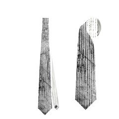 Black And White Fence Neckties (one Side)