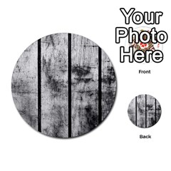 BLACK AND WHITE FENCE Multi-purpose Cards (Round)