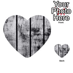 BLACK AND WHITE FENCE Multi-purpose Cards (Heart)