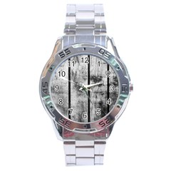 BLACK AND WHITE FENCE Stainless Steel Men s Watch
