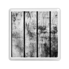 Black And White Fence Memory Card Reader (square)