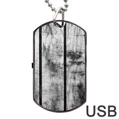 BLACK AND WHITE FENCE Dog Tag USB Flash (Two Sides)