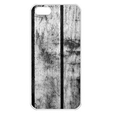 BLACK AND WHITE FENCE Apple iPhone 5 Seamless Case (White)