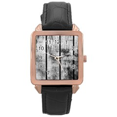 BLACK AND WHITE FENCE Rose Gold Watches