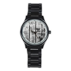 BLACK AND WHITE FENCE Stainless Steel Round Watches