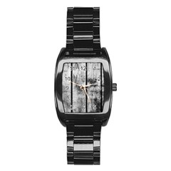 BLACK AND WHITE FENCE Stainless Steel Barrel Watch